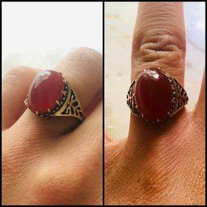 🛑SOLD🛑14k vintage cabochon ring